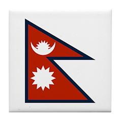 Nepal Flag Tile Coaster