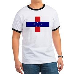 Netherlands Antilles Flag Ringer T