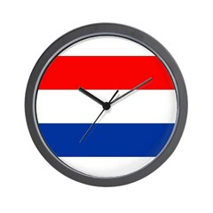Netherlands Flag Wall Clock