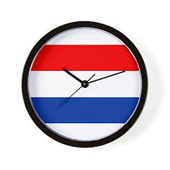 Netherlands Flag Wall Clock