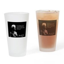 Mark Twain, Funny Weather Quote, Drinking Glass