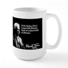 Mark Twain, Funny Weather Quote, Mug