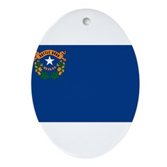 Nevada Flag Ornament (Oval)