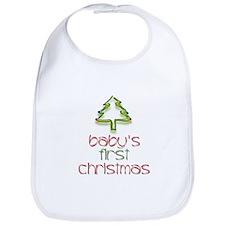 Baby's 1st Christmas (tree) Bib