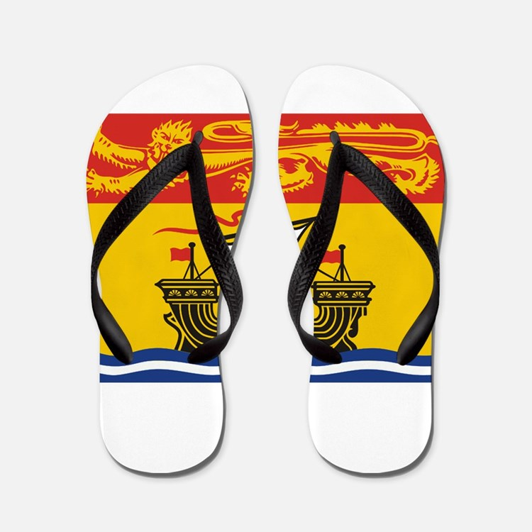 New Brunswick Flag Flip Flops