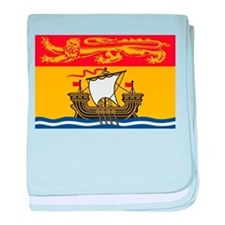 New Brunswick Flag baby blanket
