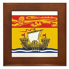 New Brunswick Flag Framed Tile