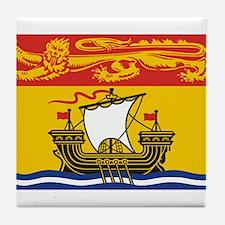New Brunswick Flag Tile Coaster