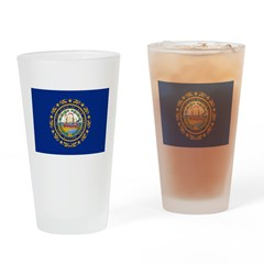 New Hampshire Flag Drinking Glass