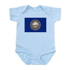 New Hampshire Flag Infant Bodysuit