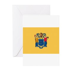 New Jersey Flag Greeting Cards (Pk of 20)