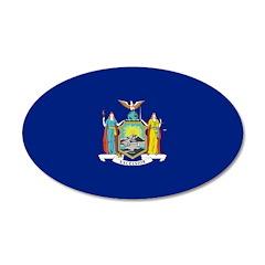 New York Flag 22x14 Oval Wall Peel