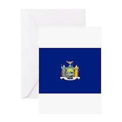 New York Flag Greeting Card