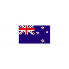 New Zealand Flag 21x7 Wall Peel