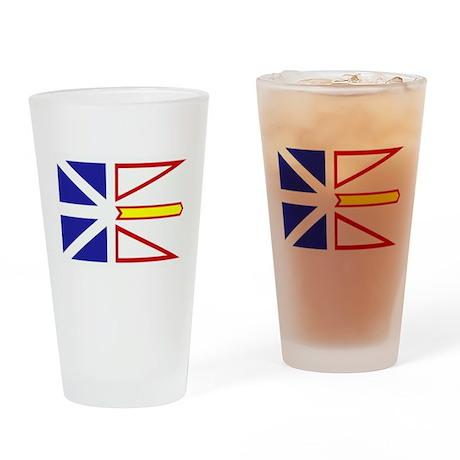 Newfoundland Flag Drinking Glass