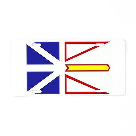 Newfoundland Flag Aluminum License Plate