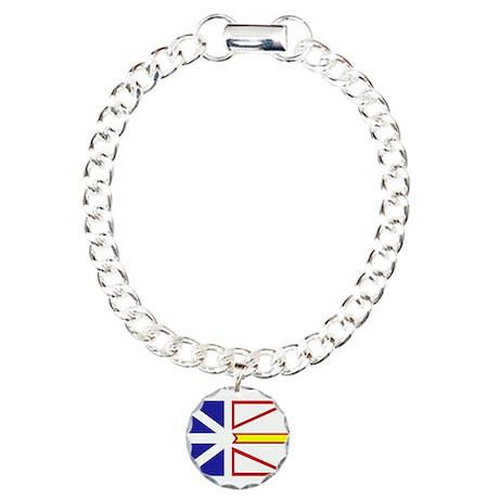 Newfoundland Flag Charm Bracelet, One Charm