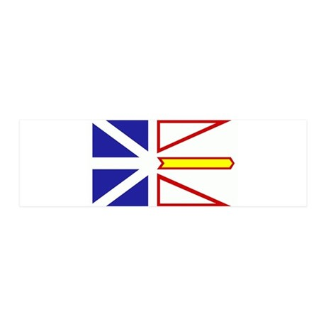 Newfoundland Flag 21x7 Wall Peel