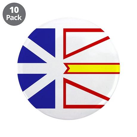 "Newfoundland Flag 3.5"" Button (10 pack)"