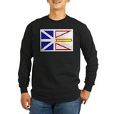 Newfoundland flag Long Sleeve T-shirts (Dark)