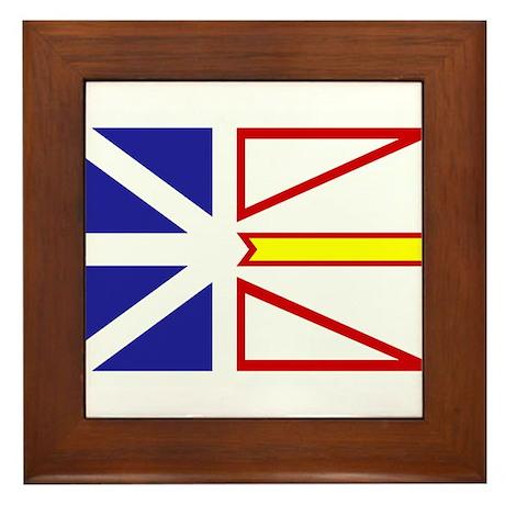 Newfoundland Flag Framed Tile