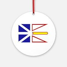 Newfoundland Flag Ornament (Round)