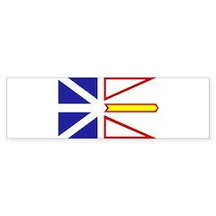 Newfoundland Flag Bumper Sticker