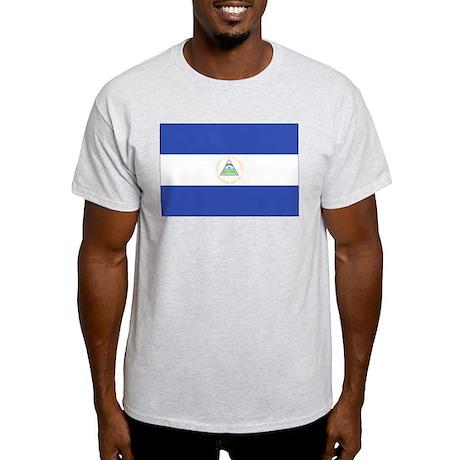Nicaragua Flag Light T-Shirt