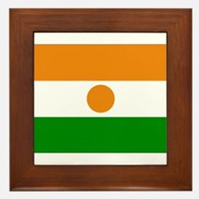 Niger Flag Framed Tile