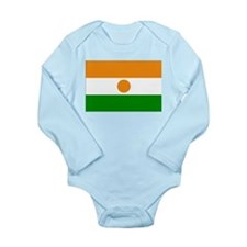 Niger Flag Long Sleeve Infant Bodysuit