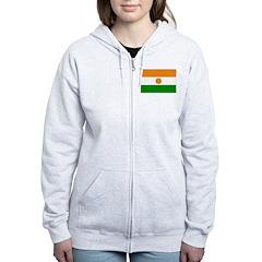 Niger Flag Zip Hoodie