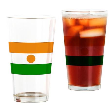 Niger Flag Drinking Glass