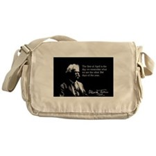 Mark Twain, April 1st, Messenger Bag