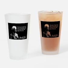 Mark Twain, April 1st, Drinking Glass