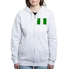 Nigeria Flag Zip Hoodie