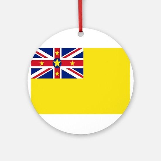 Niue Flag Ornament (Round)