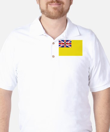 Niue Flag Golf Shirt
