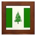 Norfolk Island Flag Framed Tile