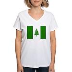 Norfolk Island Flag Women's V-Neck T-Shirt