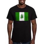 Norfolk Island Flag Men's Fitted T-Shirt (dark)