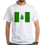 Norfolk Island Flag White T-Shirt