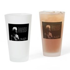 Mark Twain, Great Reading Quote, Drinking Glass