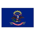 North Dakota Flag Sticker (Rectangle 10 pk)