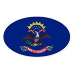 North Dakota Flag Sticker (Oval 50 pk)