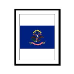 North Dakota Flag Framed Panel Print