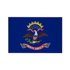 North Dakota Flag Rectangle Magnet (100 pack)