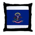 North Dakota Flag Throw Pillow