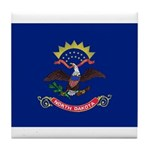North Dakota Flag Tile Coaster