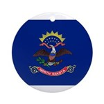 North Dakota Flag Ornament (Round)