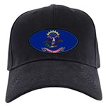 North Dakota Flag Black Cap